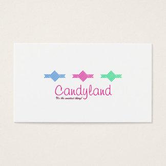 Cartão de visita do costume dos doces de Candyland