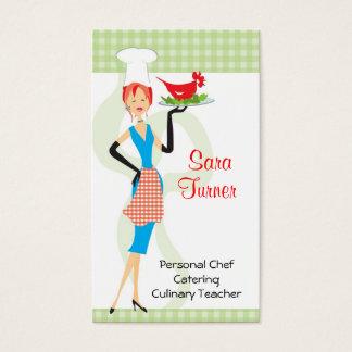Cartão de visita do cozinhar do cozinheiro chefe