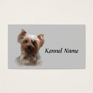 Cartão de visita do criador do yorkshire terrier