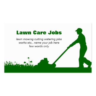 Cartão de visita do cuidado do gramado com cores