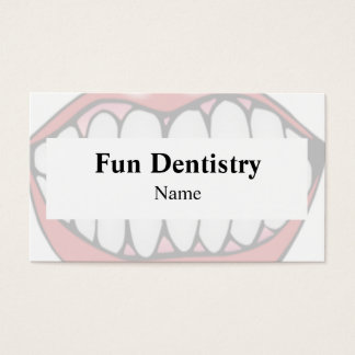 Cartão de visita do dentista da boca