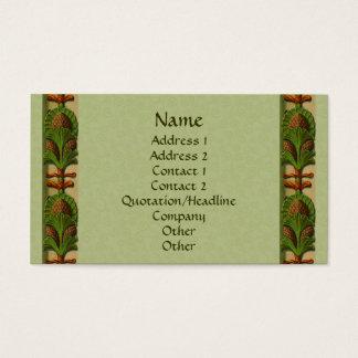 Cartão de visita do design da beira do abacaxi da