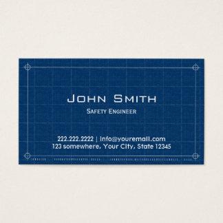 Cartão de visita do engenheiro de segurança do