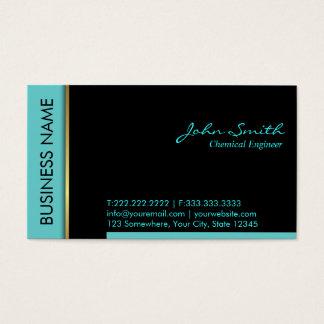 Cartão de visita do engenheiro químico da beira da