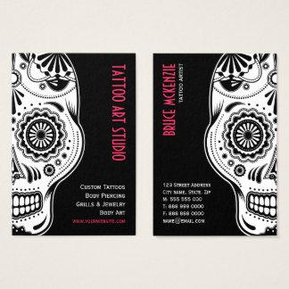 Cartão de visita do estúdio da arte do tatuagem