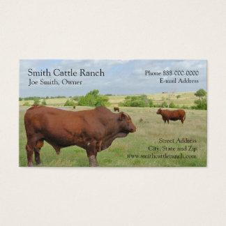 Cartão de visita do fazendeiro de leiteria do gado