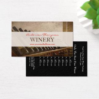 Cartão de visita do fazer do vinho do vinhedo da