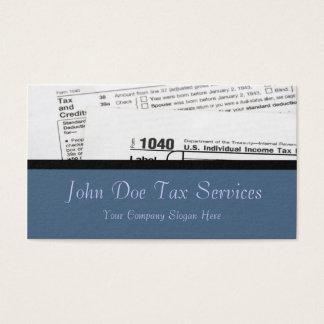 Cartão de visita do formulário de imposto federal