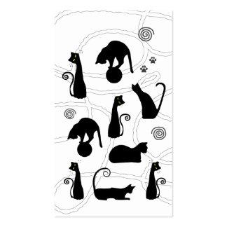 Cartão de visita do gato