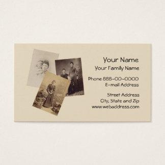 Cartão de visita do Genealogist