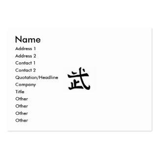 Cartão de visita do guerreiro - carnudo