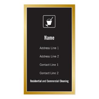 Cartão de visita do ícone do serviço da limpeza