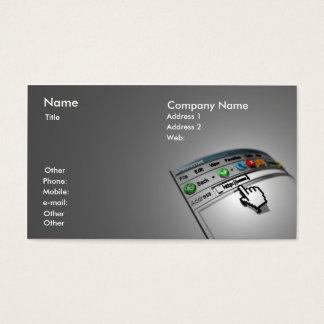 Cartão de visita do Internet