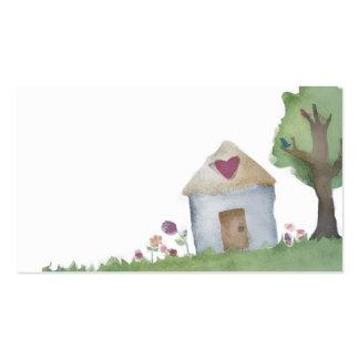 cartão de visita do jardim da casa da casa do amor