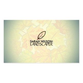 Cartão de visita do jardineiro Landscaper