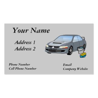 Cartão de visita do lavagem de carros