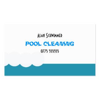 Cartão de visita do líquido de limpeza da piscina