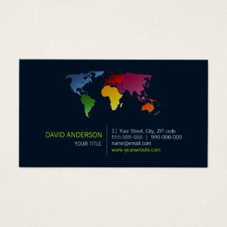 Cartão de visita do mapa do mundo