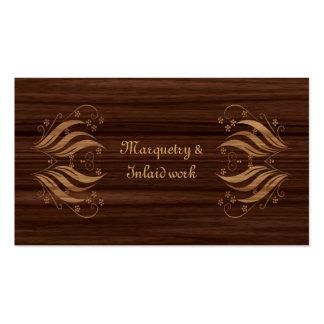 Cartão de visita do Marquetry