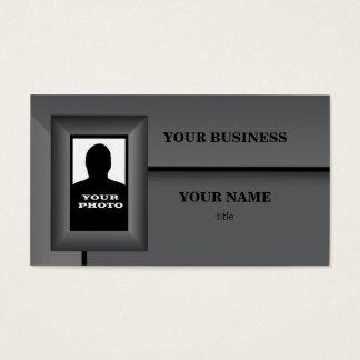 Cartão de visita do modelo do quadro da foto do