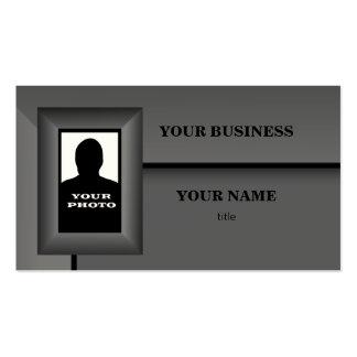 Cartão de visita do modelo do quadro da foto do ca