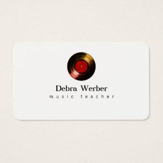 cartão de visita do músico com um registro de