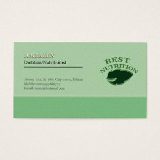 Cartão de visita do nutricionista