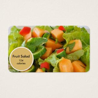 cartão de visita do nutricionista da salada de