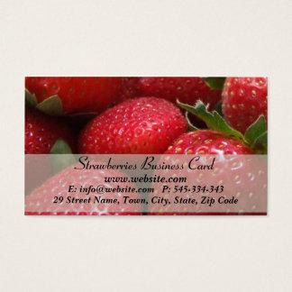 Cartão de visita do nutricionista das morangos