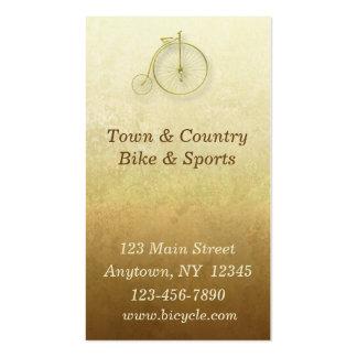 Cartão de visita do ouro da bicicleta
