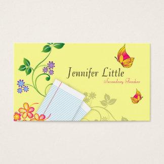 Cartão de visita do professor de segundo grau -