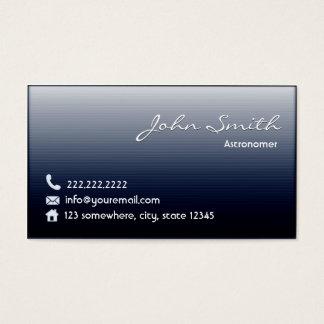 Cartão de visita do profissional do astrónomo