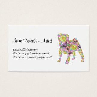 Cartão de visita do Pug