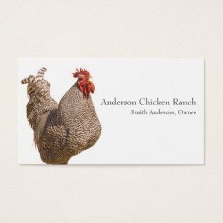 Cartão de visita do rancheiro da galinha