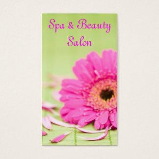 Cartão de visita do salão de beleza