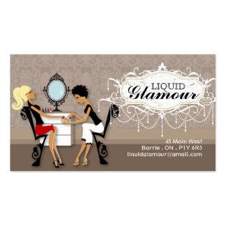 Cartões de visita para salão de beleza na Zazzle