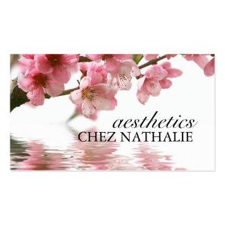 Cartão de visita do salão de beleza e dos termas