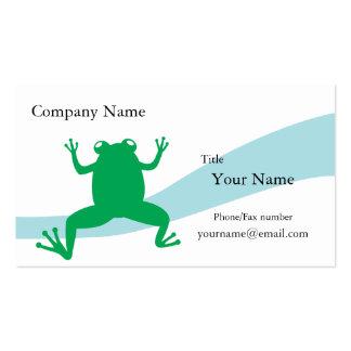 Cartão de visita do sapo