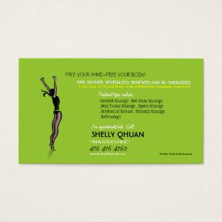 Cartão de visita do terapeuta da massagem
