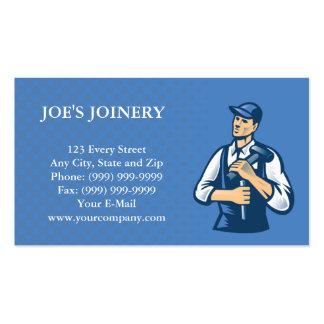 cartão de visita do trabalhador da construção do