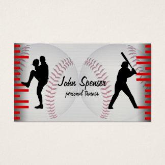 Cartão de visita do treinador de basebol