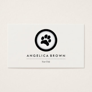 Cartão de visita do veterinário dos cuidados dos