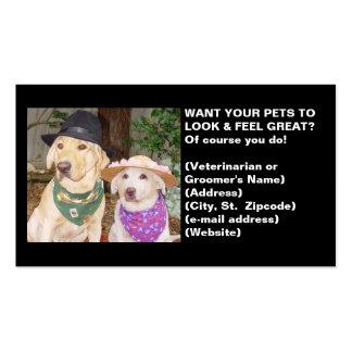 Cartão de visita do veterinário ou do Groomer