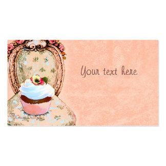 Cartão de visita do Victorian do cupcake