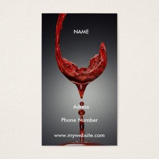 Cartão de visita do vinho