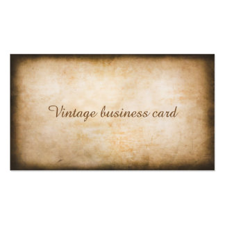 Cartão de visita do vintage