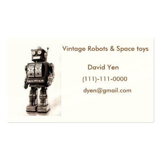Cartão de visita do vintage para coletores
