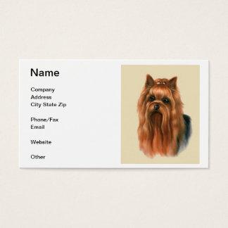 Cartão de visita do yorkshire terrier