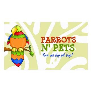 Cartão de visita dos animais de estimação de N dos