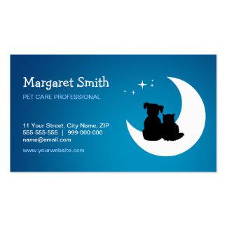 Cartão de visita dos cuidados animais do baby-sitt